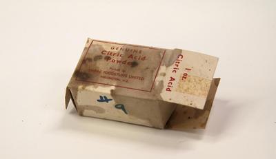 Box, Citric Acid