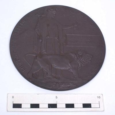 Plaque, Memorial; 1919-1920; A82.019