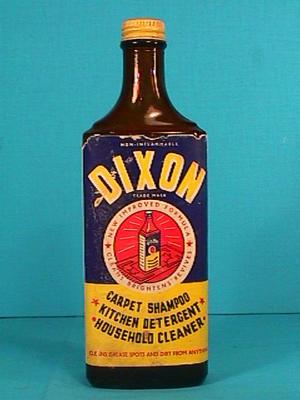 Bottle, Dixon Household Cleaner