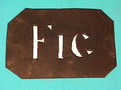 Stencil; Circa 1876-1905; TM2000.316