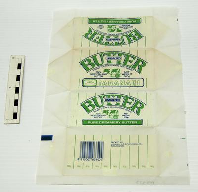 Wrapper, Butter (Taranaki)