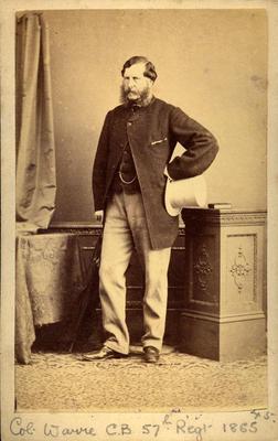 """""""Col. Warre C.B. 57th Regt 1865"""""""