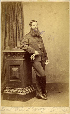 """Lieut. W. L. Fleury 50th Regt""; Circa 1860s; PHO2008-575"