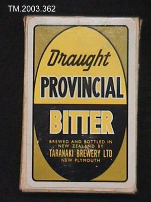 Card Deck. Taranaki Brewery Ltd.; TM2003.362