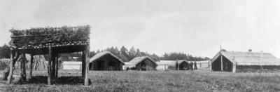 """The Maori Village at the exhibition"""