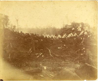 Armed Constabulary Camp at Parihaka; 1881; PHO2008-1876