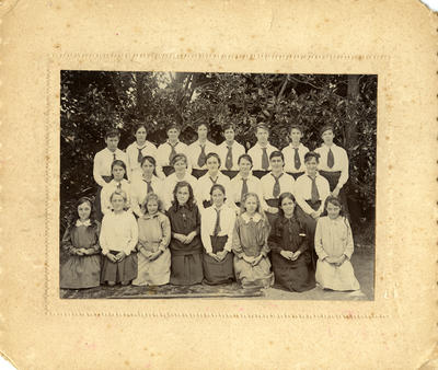 """""""Chetwode School Girls of 1917, senior and middle form"""""""