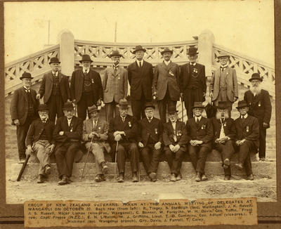 """""""Group of New Zealand Veterans, Taken at the Annual Meeting of Delegates at Wanganui on October 22"""""""