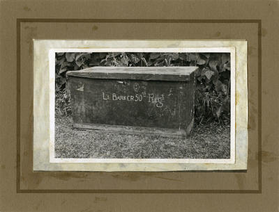Lieutenant Barker's storage trunk; 1863-1866; PHO2009-081