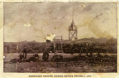 """""""Normanby Redoubt, During Native Trouble 1879.""""; 1879; PHO2009-101"""