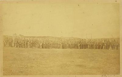 """""""50th Regiment at Taranaki""""; 1866; A64.043"""