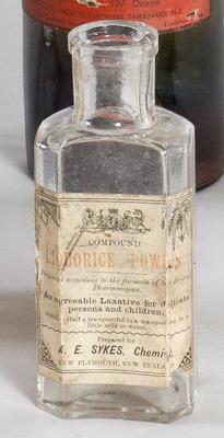 Bottle, Compound Liquorice; 1892-1916; PA2008.119