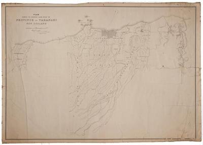 Plan showing surveyed lands within the Province of Taranaki, New Zealand