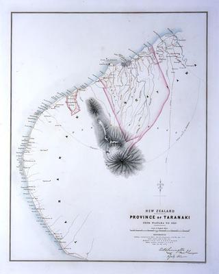 Province of Taranaki from Waitara to Oeo [map]