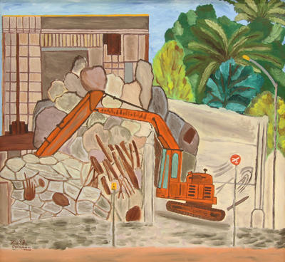 Untitled (Demolition of the New Plymouth Municipal Chambers)