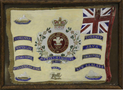 Colours and Battle Honours of the 14th (Buckinghamshire) Regiment of Foot