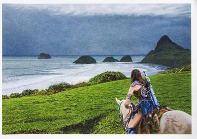 """Xena Over Back Beach"""