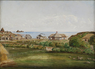 """""""Part of New Plymouth, c 1870""""; A66.060"""