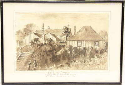 """""""Shaw's Place, Old New Plymouth""""; 1935; A65.922"""