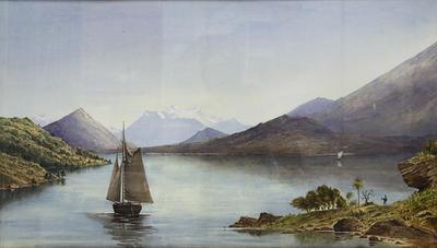 """""""Southern Lake Scene""""; A66.070"""