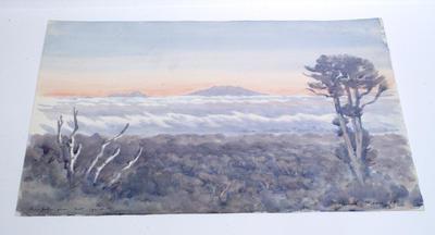 """Ruapehu from Mt Egmont"""
