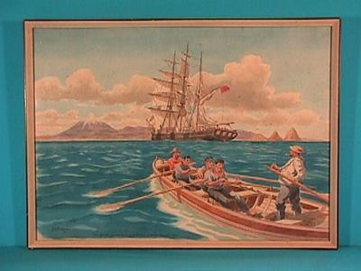 """""""Dicky Barrett goes aboard an emigrant barque off New Plymouth 1842"""""""