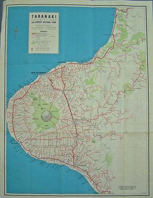 Taranaki district map and Egmont National Park [map]