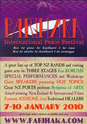 Parihaka International Peace Festival 2010 [poster]