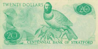 Bank notes. Centennial Bank of Stratford