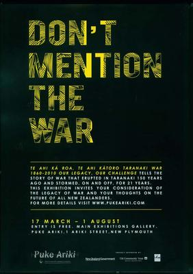 Don't mention the war [poster]; 2010; ARC2010-141