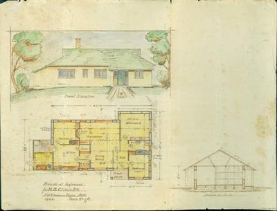 House at Inglewood for R. D. Climie Esq. [plan]; 1922; ARC2010-143