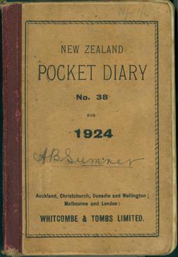 Sumner, Alice Barbara [diary]