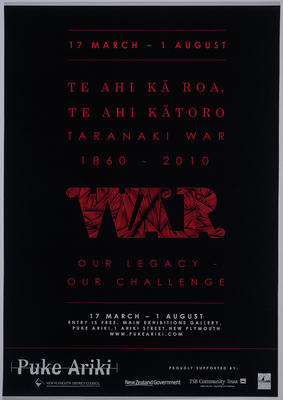 Puke Ariki exhibition posters and advertisement material 2010; 2010; ARC2011-096