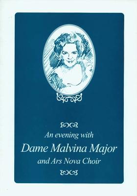 An Evening with Dame Melvina Major and Arts Nova Choir, programme