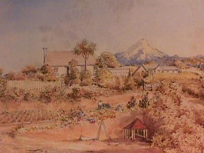 Untitled (House and Garden); Circa 1860-1899; A79.834