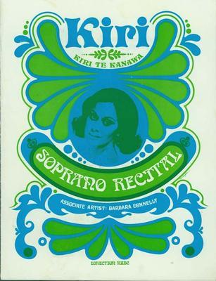 Kiri Te Kanawa, Soprano Recital; New Plymouth Opera House; 27 Jul 1972; ARC2011-207