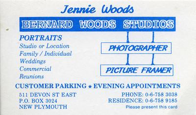 Bernard Woods Studios Ephemera