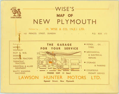 Wise's Map of New Plymouth