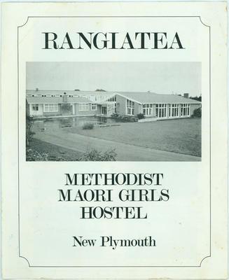 Rangiatea Methodist Maori Girls Hostel New Plymouth