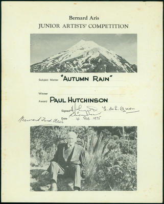 Hutchinson, Paul [ephemera]; 1975-2008; ARC2013-1425