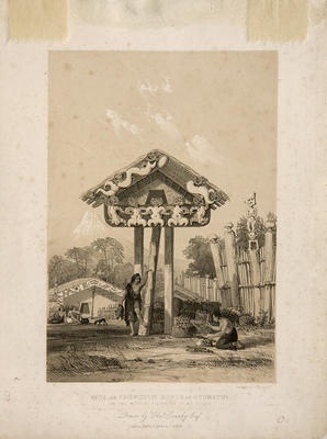 """""""Wata or Provision House at Otumatua on the North Shore of Cook's Strait"""""""