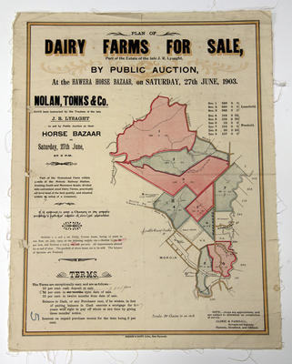 Plan of Dairy Farms for Sale [poster]