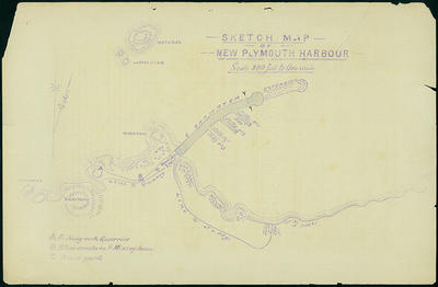 Sketch Map of New Plymouth Harbour [map]