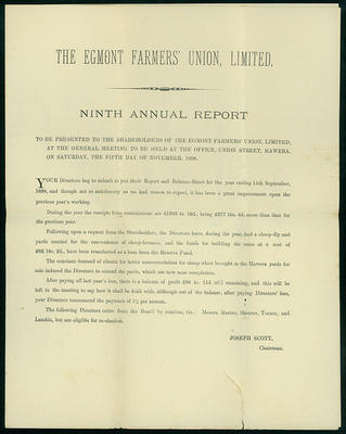 The Egmont Farmers' Union Limited