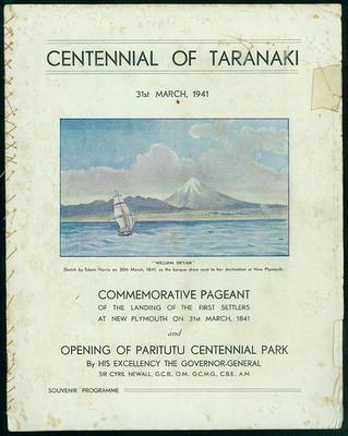 Centennial of Taranaki [souvenir programme]