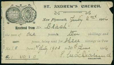 St. Andrew's Church [receipt]