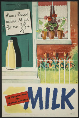 Milk, The Essential Food for Growing Children [poster]