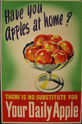 Have you apples at home? There is no substitute for your daily apple [poster]