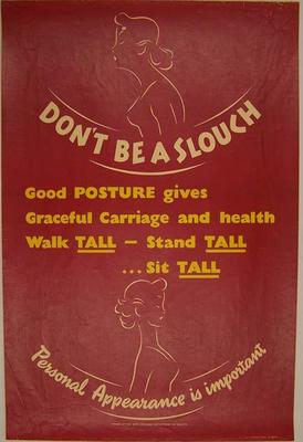Don't be a slouch [poster]