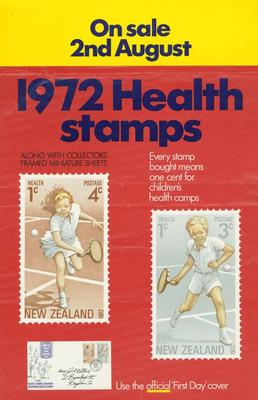 NZPO 1972 health stamps [poster]